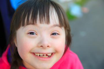 Portrait of beautiful girl smiling