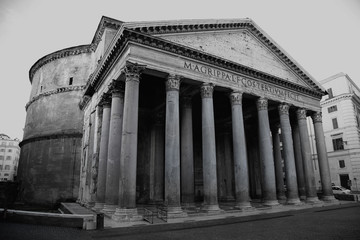 view of Pantheon in Rome, Italy