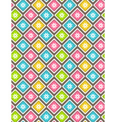 Seamless bright fun abstract pattern with flowers