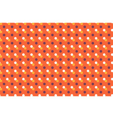 Seamless pattern with multicolored dots isolated on orange backg