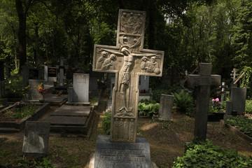 Grave of Prince Sergey Galitzine in Prague, Czech Republic.