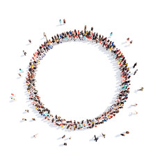 "Постер, картина, фотообои ""people in a circle of interest."""