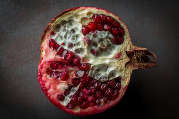 Pomegranate fruit Black Background