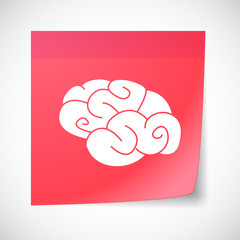 Sticky note icon with a brain