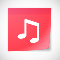 Sticky note icon with a music note