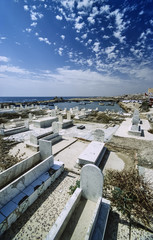 TUNISIA, Mahdia, muslim cemetery - FILM SCAN