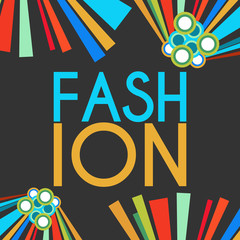 Fashion Text Dark With Colorful Elements