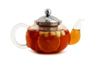 Фруктовый чай в чайнике