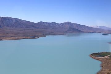 Lake Tekapo (Neuseeland) aus dem Flugzeug
