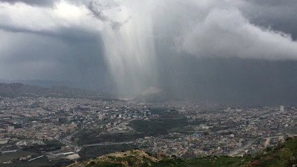 a unique formation of clouds over Duhok city