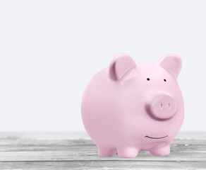 Bank. Piggy bank isolated on white background