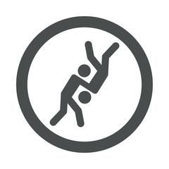 Icono redondo judo gris