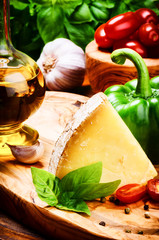 Fresh ingredients for healthy Italian cooking