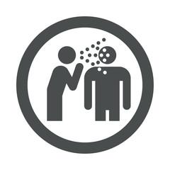 Icono redondo enfermedad contagiosa gris