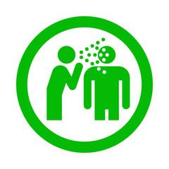 Icono redondo enfermedad contagiosa verde