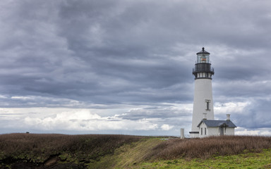 Yaquina bay lighthouse in Newport, Oregon.