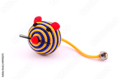 Pet toy closeup isolated on white background - 81938275
