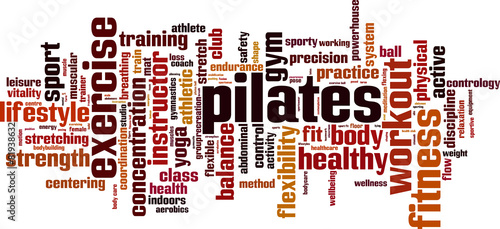 Pilates word cloud concept. Vector illustration - 81938632
