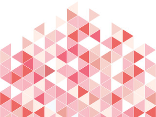 pink triangle abstract background with space pastel style