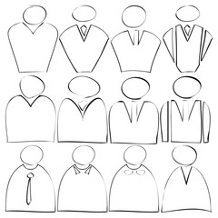 businessman flat icons