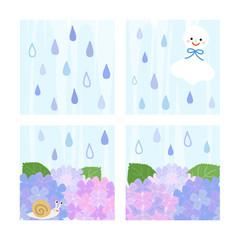 雨の窓辺 / vector eps10