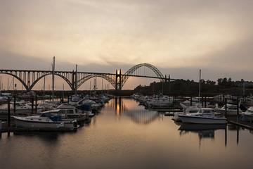 Yaquina bridge in Newport, Oregon.