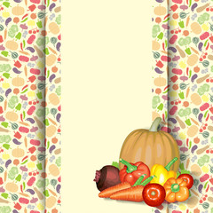 Vegetable composition background