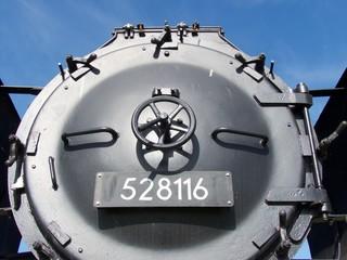 Handrad am Kessel einer Dampflok der Deutschen Reichsbahn