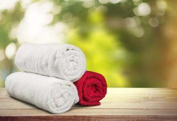 Towel. Rolled up Bath Towels