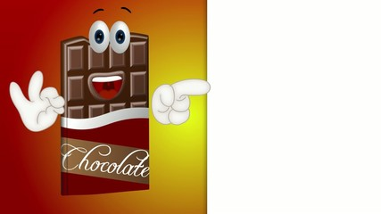 Funny chocolate cartoon illustration sweets candy