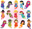 Collection of Diverse Group of Superhero Girls, matching boy sup - 81941295