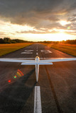Glider on the runway