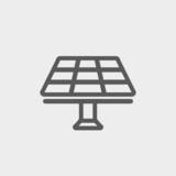 Solar Panel thin line icon