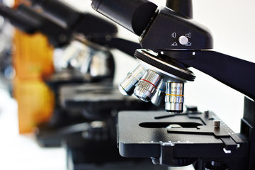 Lenses of different multiplicity of microscope