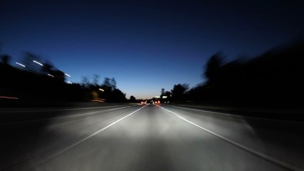 San Fernando Valley 118 Freeway Twilight Time Lapse