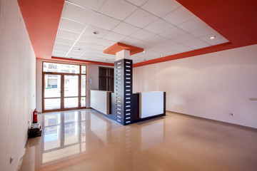 empty room. office interior. reception hall in modern building