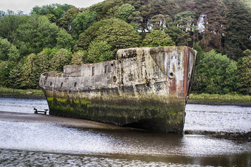 Concrete ships, Ballina, Co. Mayo, Ireland