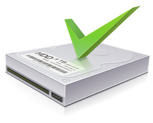 hard drive checked