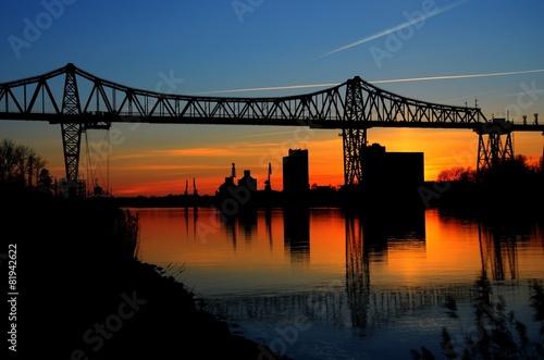 Leinwanddruck Bild Brücke
