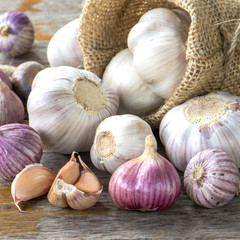 Group of Garlic for healthy