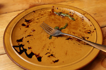 Leftovers of food