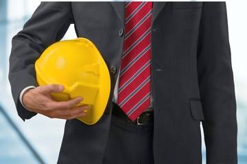 Safety. Engineer helmet