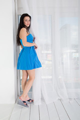 Beautiful young woman in a trendy shoes