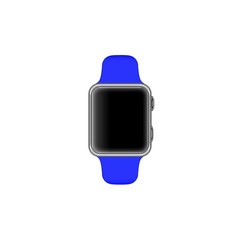 Rendering of a smartwatch isolated on white background and blank