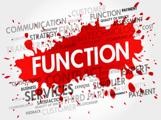 FUNCTION word cloud, business concept