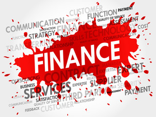 FINANCE related items words cloud, business concept