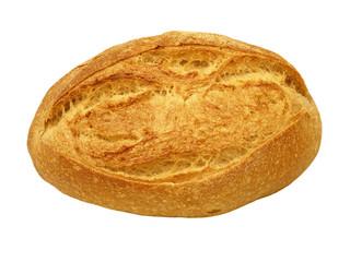 Crunchy crust bread.Isolated.