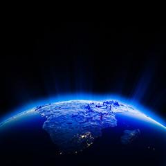 Africa city lights at night