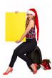 canvas print picture - Weihnachtsgruesse fuer den Reifenhandel