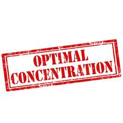 Optimal Concentration-stamp